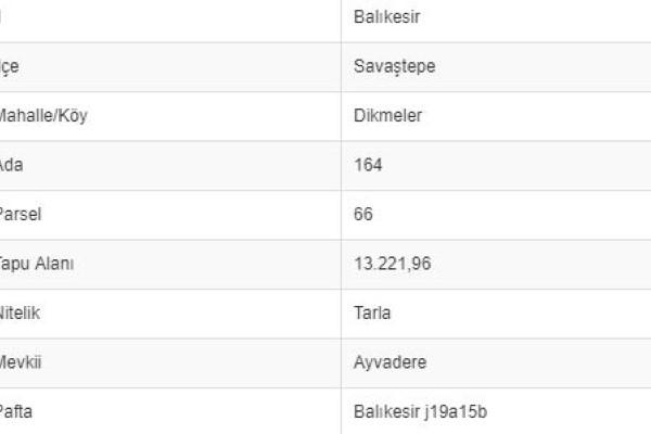 BALIKESİR SAVAŞTEPE DİKMELERDE 13.221 M2 TARLA
