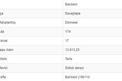BALIKESİR SAVAŞTEPE DİKMELERDE 13.613 M2 TARLA