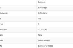 BALIKESİR SAVAŞTEPE ÇİFTLİKDEREDE 12.000 M2 TARLA